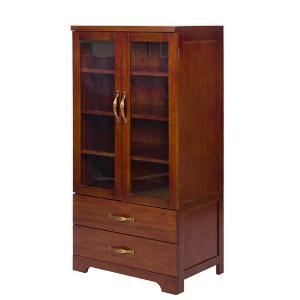 雅客集艾维斯全实木两门两抽柜餐边柜储物柜茶水柜WN-16081WA