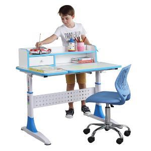雅客集 智慧之星带抽屉书架儿童成长书桌  公主粉 王子蓝两色可选