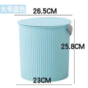 艾多大号单只装手提收纳桶带盖塑料桶洗澡洗衣洗车储水圆桶