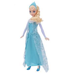 美泰正品迪士尼玩具冰雪奇缘之闪耀芭比娃娃儿童艾莎公主Y9959