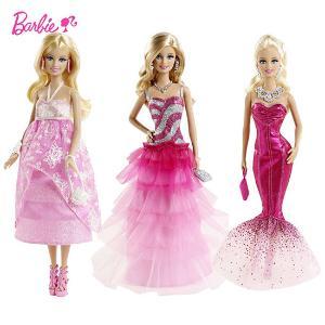芭比娃娃晚宴眩亮装公主梦幻时尚BFW16生日礼物女孩玩具礼服
