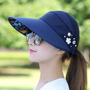 上海故事休闲百搭潮防紫外线韩版可折叠防晒太阳帽遮阳帽