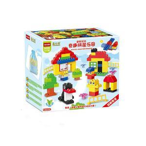 惠美奇趣乐园拼装积木玩具100颗大颗粒早教益智玩具HM158
