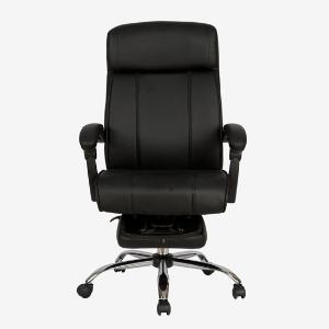 雅客集可搭脚旋转老板椅皮椅卡罗琳休闲办公电脑椅FB-17014BL