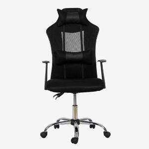 雅客集办公电脑椅 曼迪可移靠枕电脑椅 可升降扶手黑色FB-17015BL