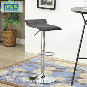 雅客集时尚高脚凳 布兰登升降旋转吧椅FB-16070BL