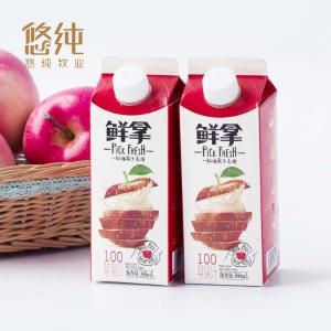 悠纯 新品 鲜拿苹果汁果汁饮品360mlx6盒 新鲜食材 江浙沪皖发货