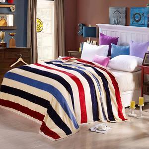 VIPLIFE毛毯 青春时尚休闲毯 午睡沙发毯子【时尚条纹】