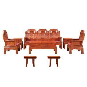 橹班智造刺猬紫檀福禄寿沙发组