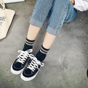 名将 夏季2017新款球鞋韩版学生透气板鞋女休闲街拍帆布鞋