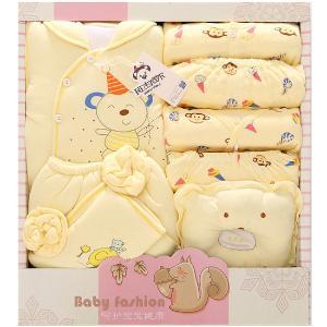 班杰威尔14件套秋冬加厚婴儿礼盒纯棉新生儿内衣带抱被宝宝套装