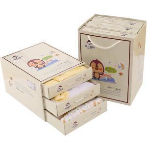 班杰威尔13件套秋冬加厚保暖新生儿礼盒纯棉婴儿内衣满月宝宝套装