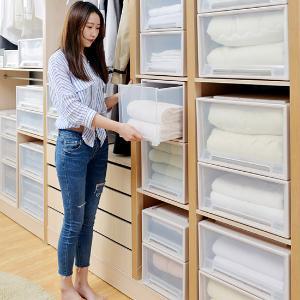 艾多收纳箱衣物抽屉式收纳盒家用塑料整理箱子装衣服透明储物箱
