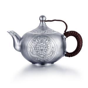 中国白银龙腾四海养生银壶组