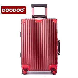 doodoo铝框行李箱拉杆箱万向轮旅行箱20韩版女男26密码箱包24硬箱