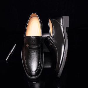 米斯康 英伦商务超纤皮皮鞋535