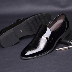 米斯康 商务男士超纤皮皮鞋1866