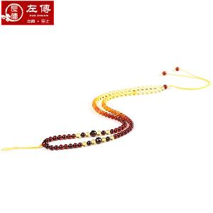 左传 彩虹血珀配珠链3-4mm 渐变效果 佩带美观 合适于配