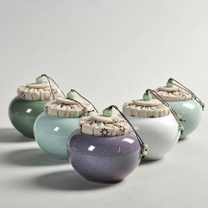 利茸 仿五大窑茶叶罐 仿宋陶瓷茶叶罐礼盒套装
