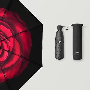 BANANAUNDER 小黑傘雙層太陽傘晴雨兩遮陽傘防紫外線折疊大傘 絨羽