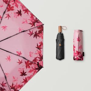 BANANAUNDER雙層防曬小黑傘太陽傘女雨傘蕉下迷你遮陽傘黑膠防紫外線傘 楓搖