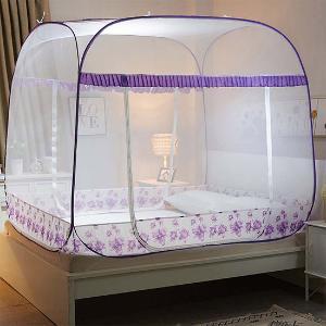 一夢 高密度免安裝三開門蒙古包 特惠款·紫色