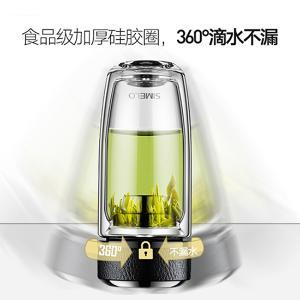 SIMELO双层玻璃杯370ML套装