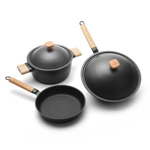 章砚铁铺铸铁锅典雅套组