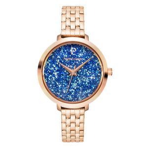 Pierre Lannier/连尼亚 女士施华洛世奇满天星星钻手表蓝色圆形不锈钢表带石英表100H998
