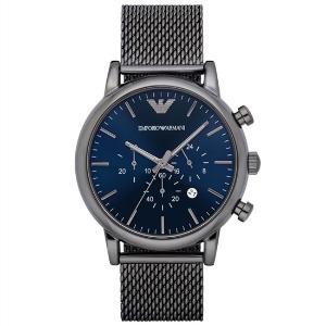 ARMANI阿玛尼手表蓝色表盘钢带多功能石英男表AR1979