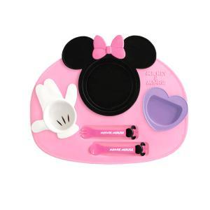 日本迪士尼锦化成 儿童餐具宝宝卡通餐盘六件套-米妮