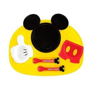 日本迪士尼锦化成 儿童餐具宝宝卡通餐盘六件套-米奇